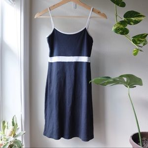 Brandy Melville Navy and White Lillian Dress